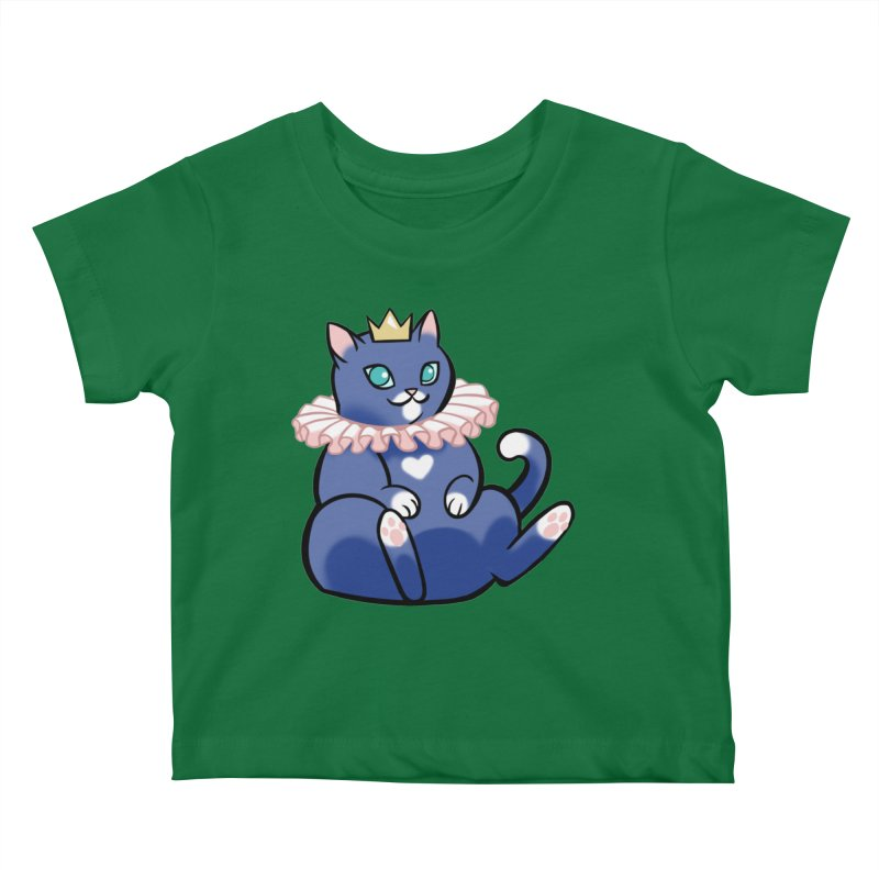 King Cat Kids Baby T-Shirt by The Art of Mirana Reveier