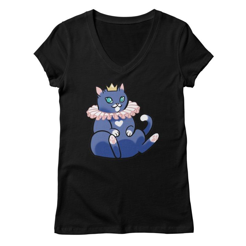 King Cat Women's V-Neck by The Art of Mirana Reveier
