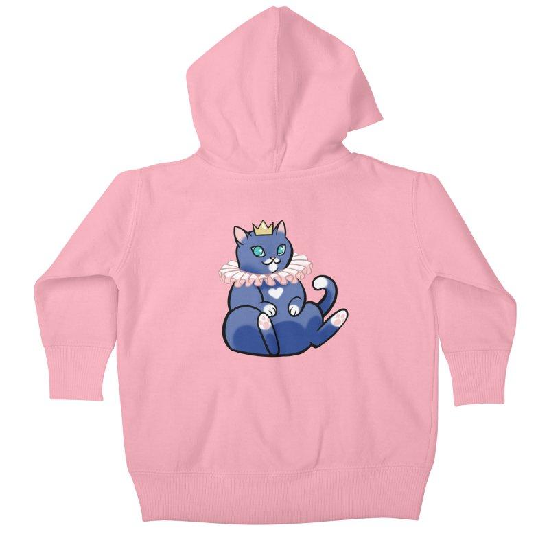 King Cat Kids Baby Zip-Up Hoody by The Art of Mirana Reveier