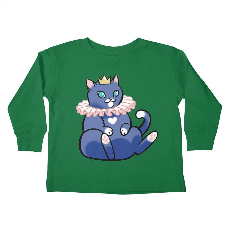 King Cat Kids Toddler Longsleeve T-Shirt by The Art of Mirana Reveier
