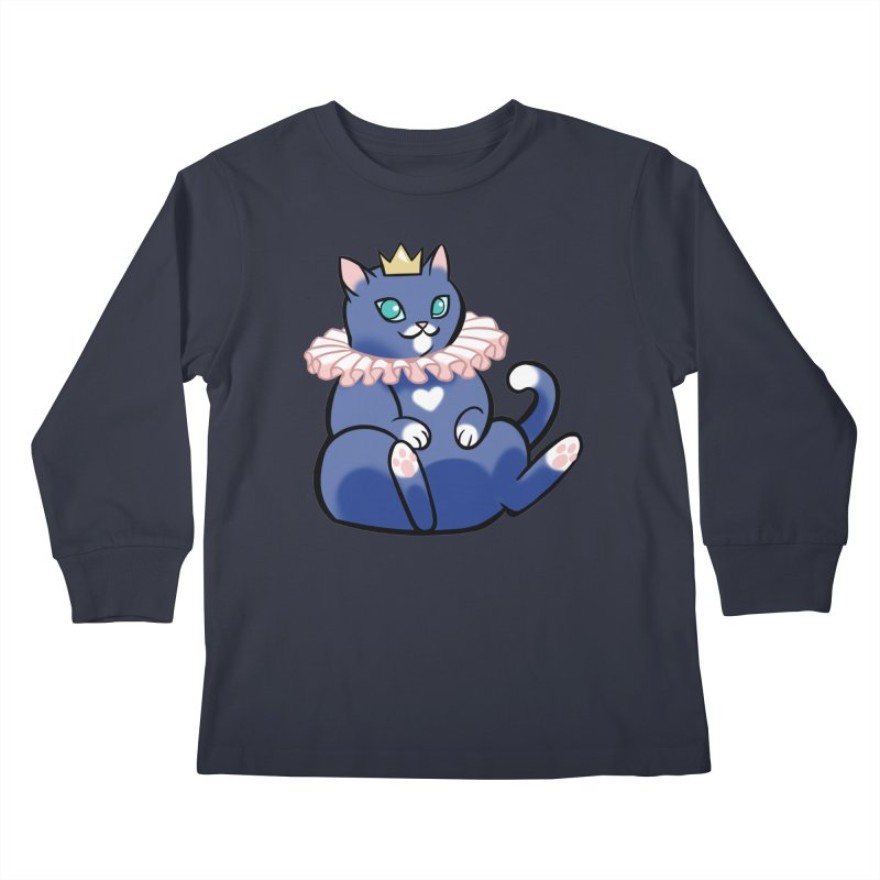 King Cat Kids Longsleeve T-Shirt by The Art of Mirana Reveier