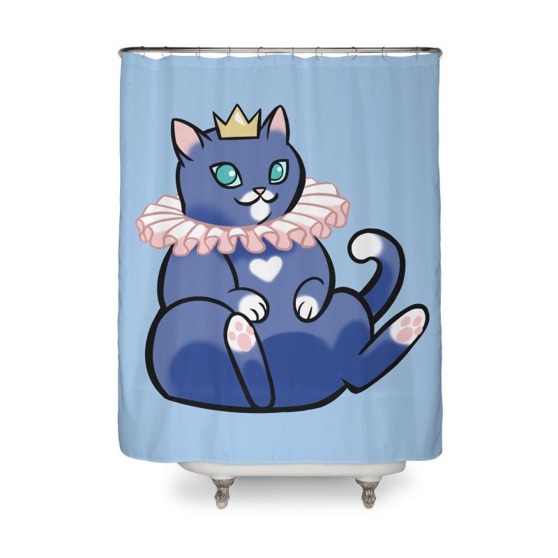 King Cat Home Shower Curtain by The Art of Mirana Reveier