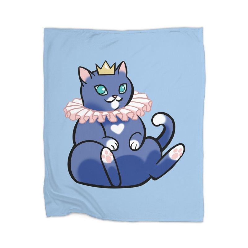 King Cat Home Blanket by The Art of Mirana Reveier