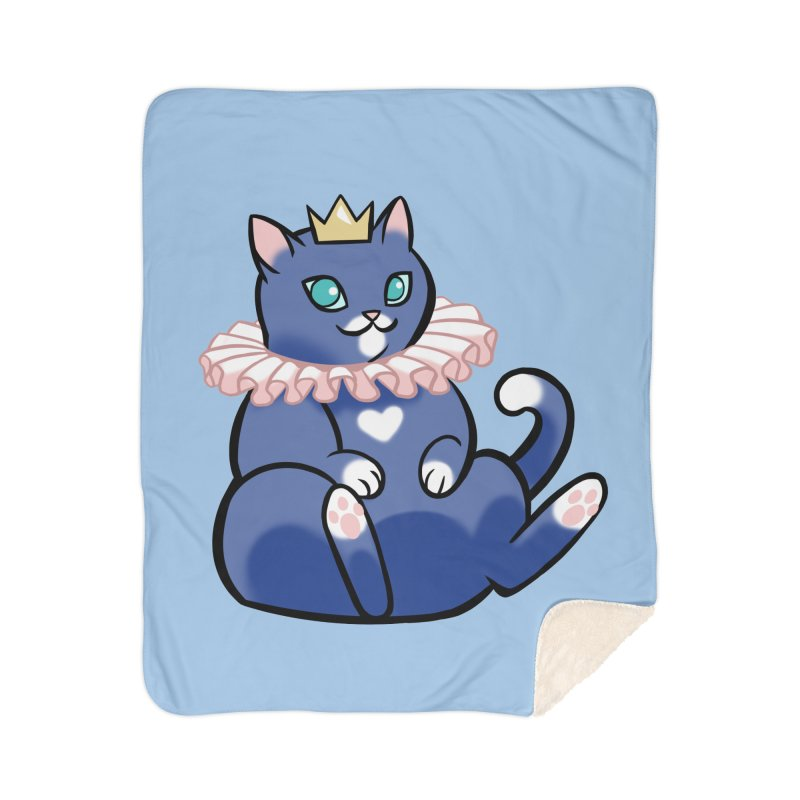 King Cat Home Blanket by The Art of Mirana Reveier