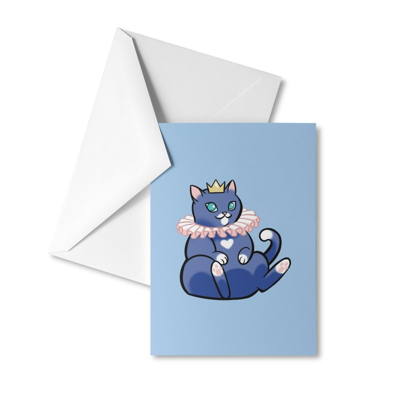 King Cat Accessories Greeting Card by The Art of Mirana Reveier