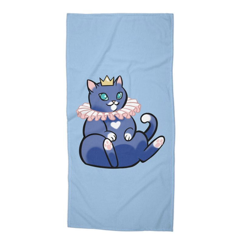 King Cat Accessories Beach Towel by The Art of Mirana Reveier