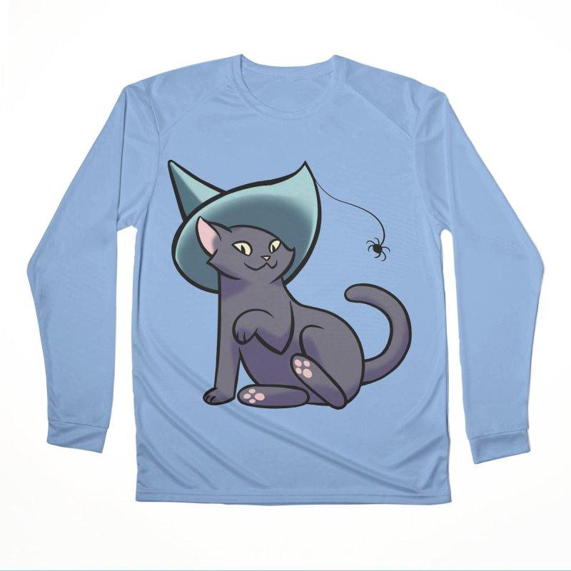 Witch Cat Women's Longsleeve T-Shirt by The Art of Mirana Reveier