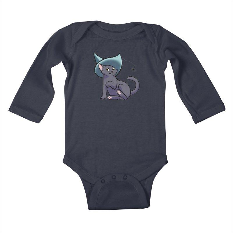Witch Cat Kids Baby Longsleeve Bodysuit by The Art of Mirana Reveier