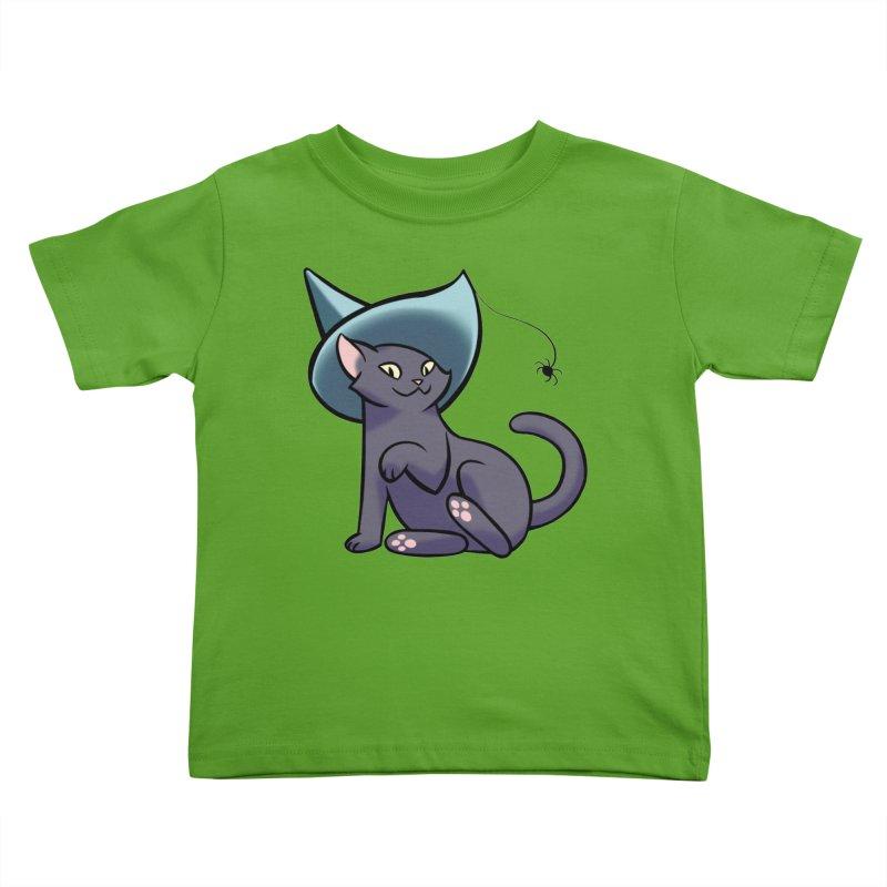 Witch Cat Kids Toddler T-Shirt by The Art of Mirana Reveier