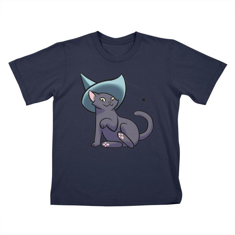 Witch Cat Kids T-Shirt by The Art of Mirana Reveier