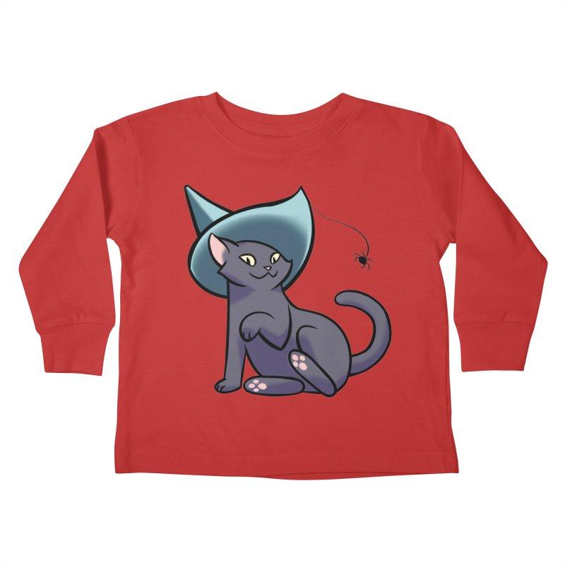 Witch Cat Kids Toddler Longsleeve T-Shirt by The Art of Mirana Reveier