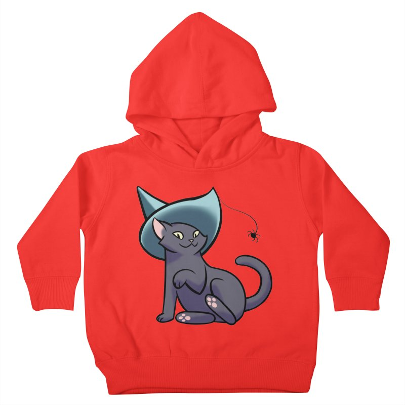 Witch Cat Kids Toddler Pullover Hoody by The Art of Mirana Reveier