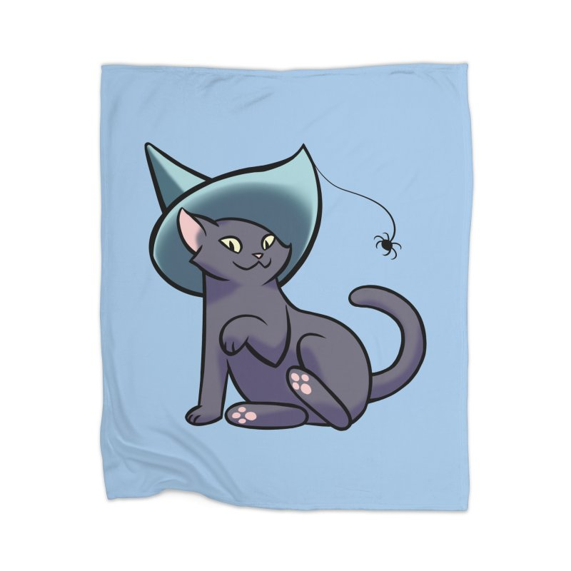 Witch Cat Home Blanket by The Art of Mirana Reveier