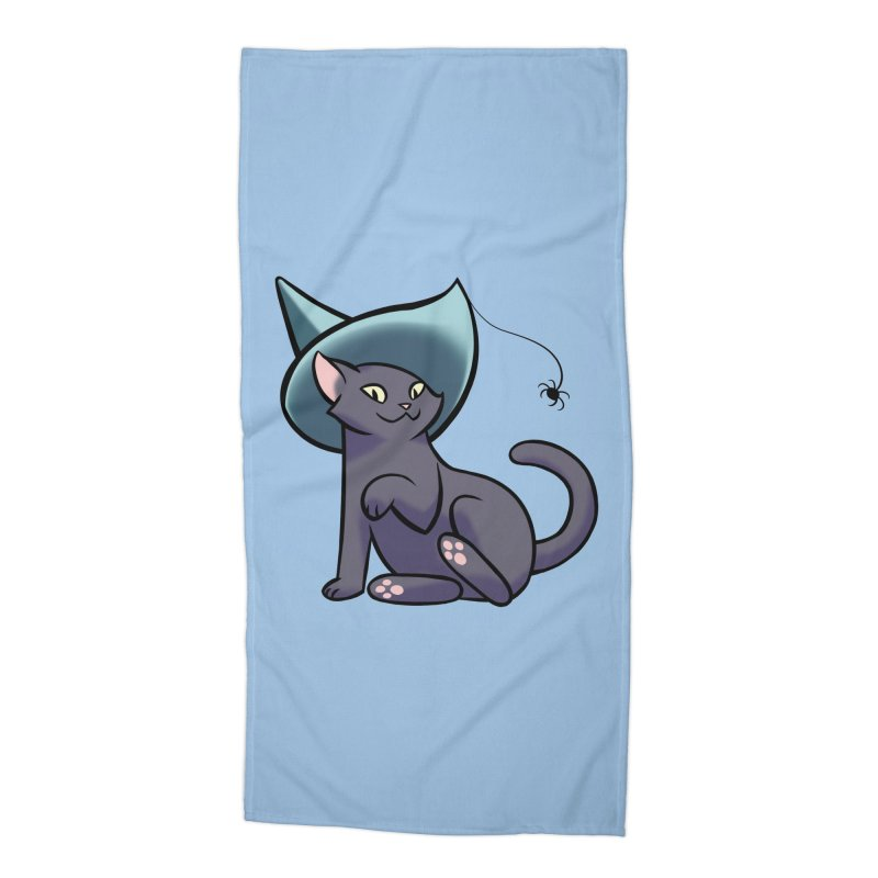 Witch Cat Accessories Beach Towel by The Art of Mirana Reveier
