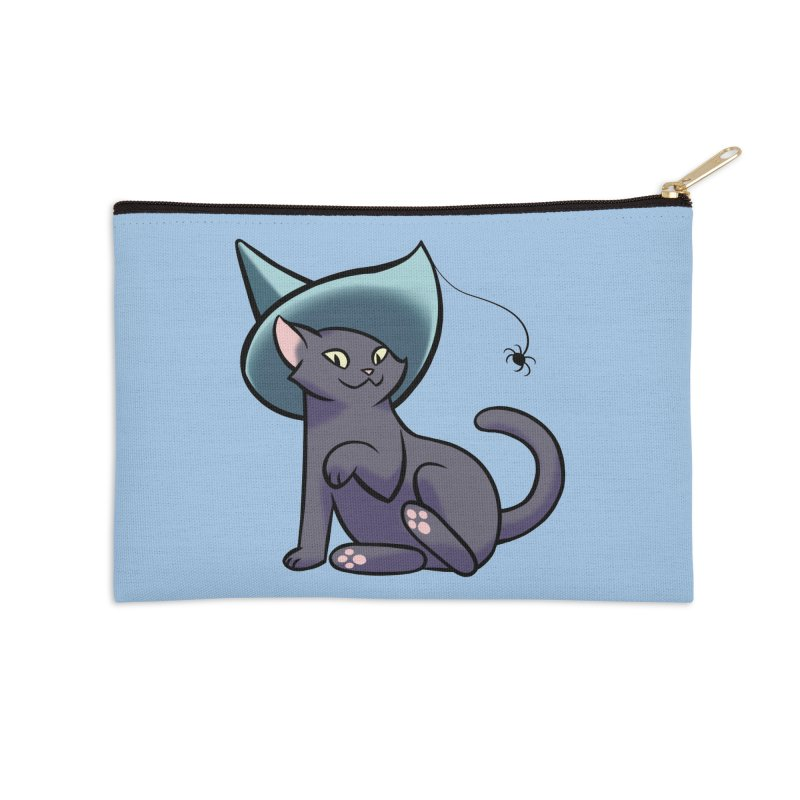 Witch Cat Accessories Zip Pouch by The Art of Mirana Reveier