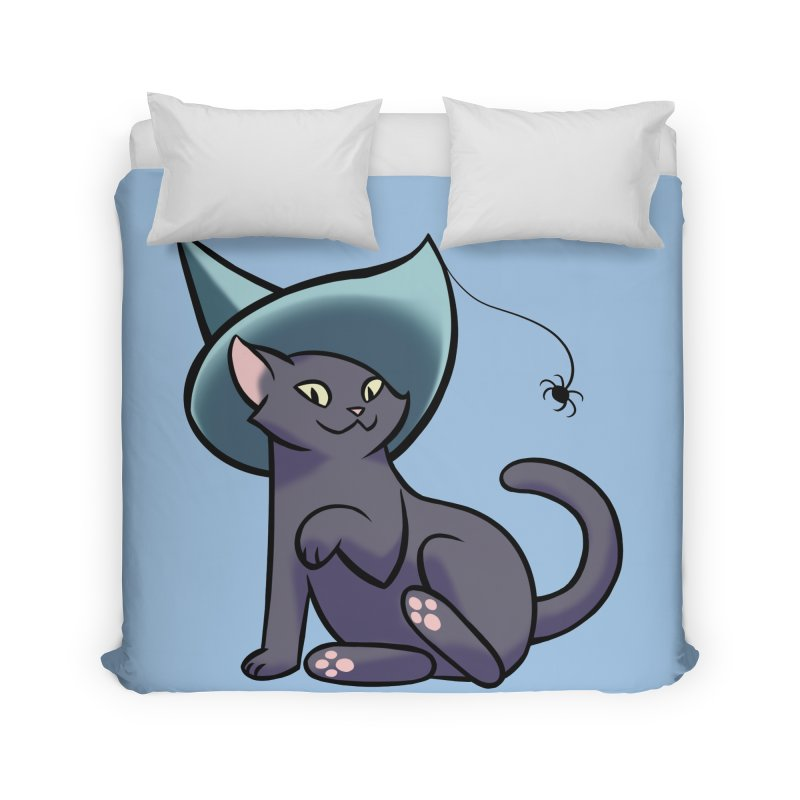 Witch Cat Home Duvet by The Art of Mirana Reveier
