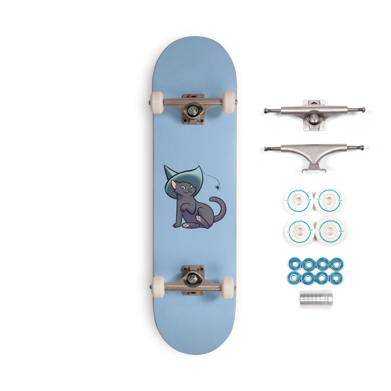 Witch Cat Accessories Skateboard by The Art of Mirana Reveier