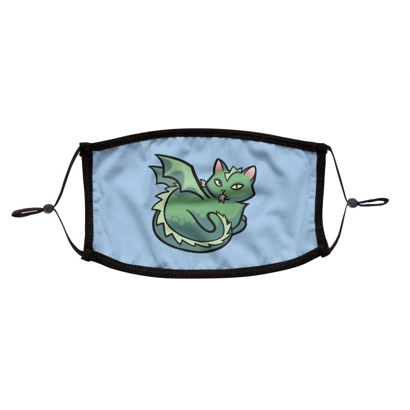 Dragon Cat Accessories Face Mask by The Art of Mirana Reveier