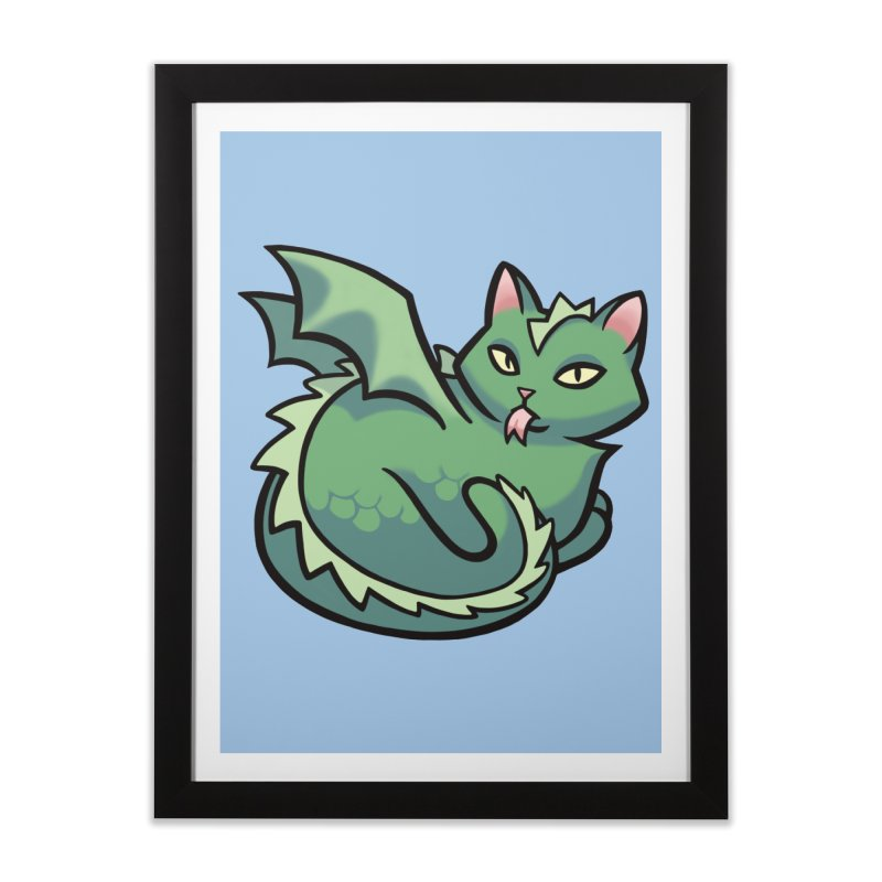 Dragon Cat Home Framed Fine Art Print by mirana's Artist Shop