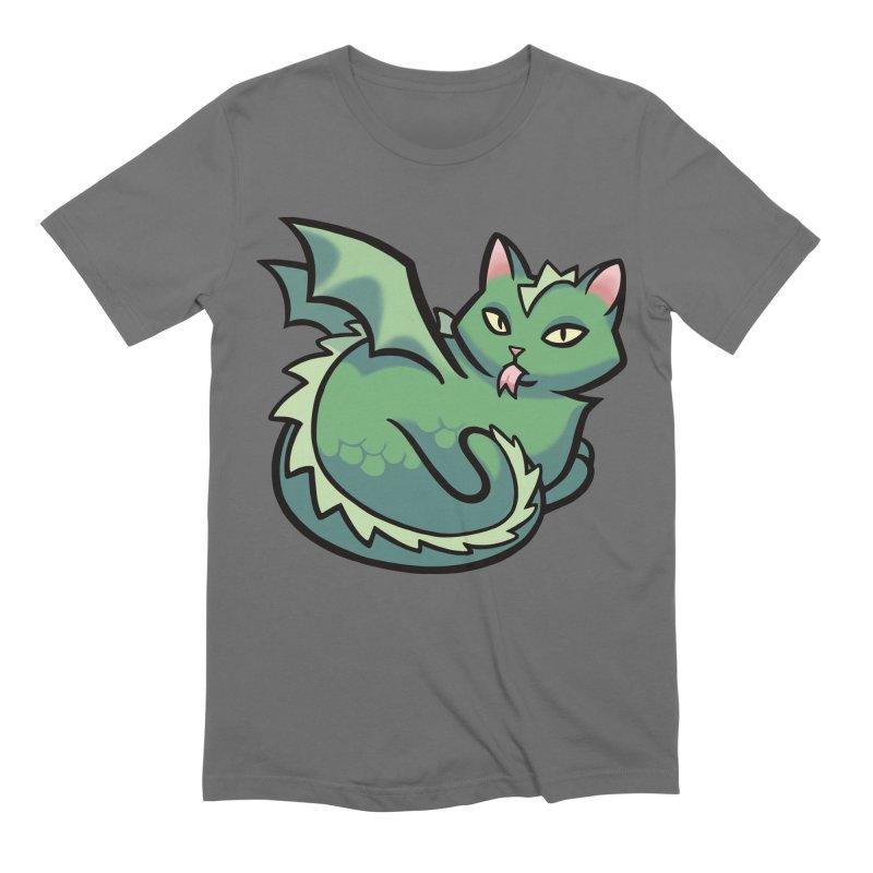 Dragon Cat Men's T-Shirt by The Art of Mirana Reveier