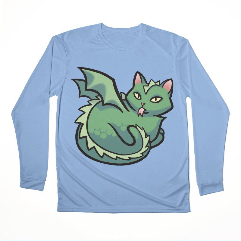 Dragon Cat Men's Longsleeve T-Shirt by The Art of Mirana Reveier