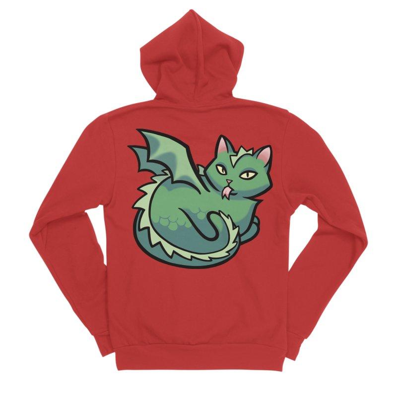 Dragon Cat Men's Zip-Up Hoody by The Art of Mirana Reveier