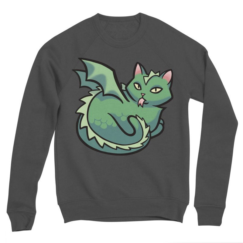 Dragon Cat Men's Sweatshirt by The Art of Mirana Reveier