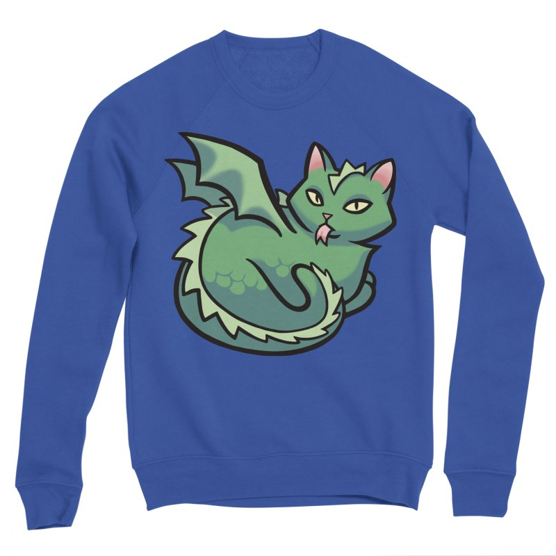 Dragon Cat Men's Sweatshirt by The Art of Mirana Reveier