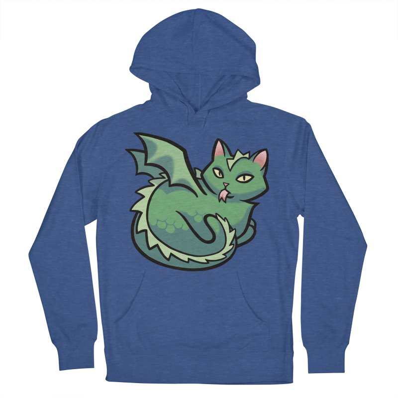 Dragon Cat Women's French Terry Pullover Hoody by mirana's Artist Shop