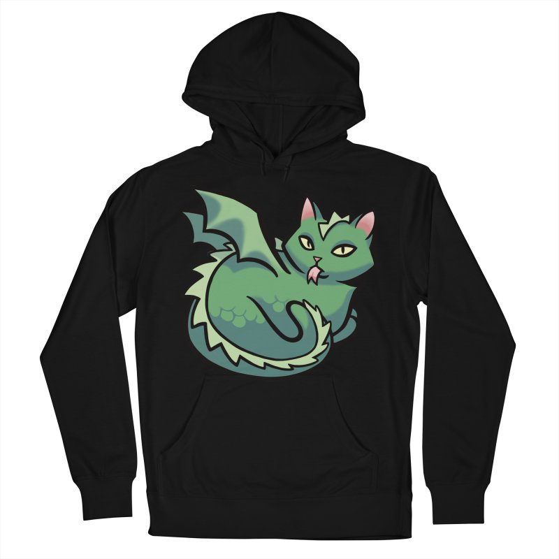 Dragon Cat Men's French Terry Pullover Hoody by mirana's Artist Shop