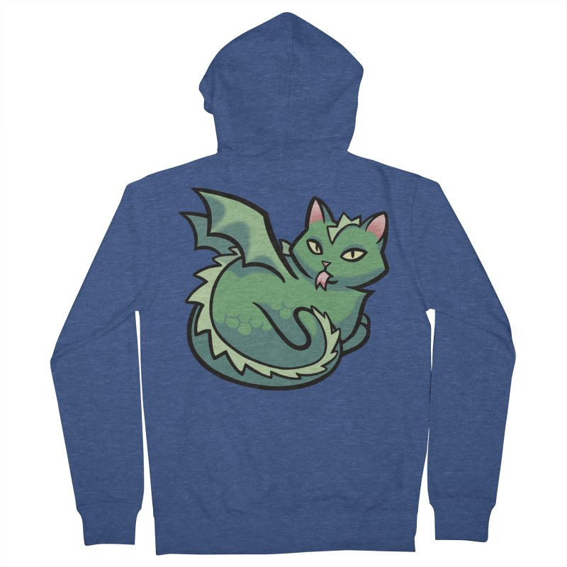 Dragon Cat Women's French Terry Zip-Up Hoody by mirana's Artist Shop