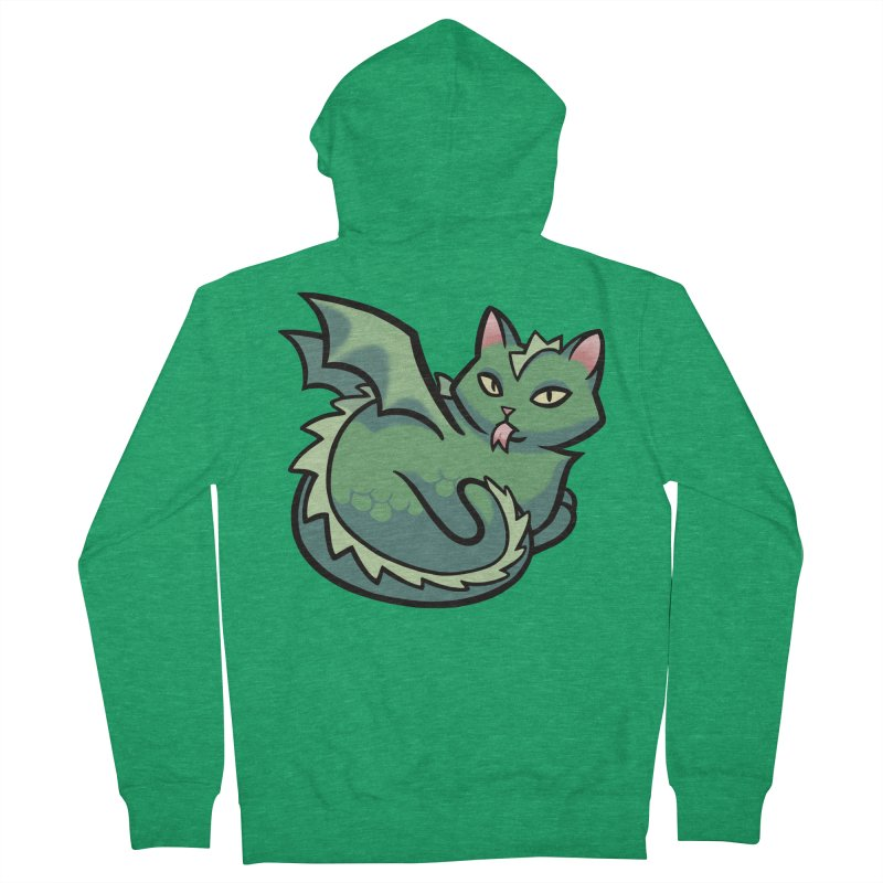 Dragon Cat Men's Zip-Up Hoody by The Art of Mirana Reveier