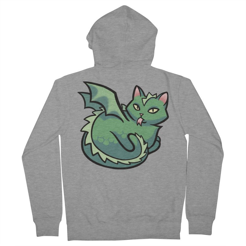 Dragon Cat Men's French Terry Zip-Up Hoody by mirana's Artist Shop