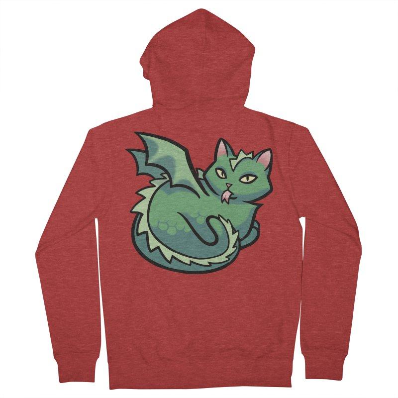 Dragon Cat Men's French Terry Zip-Up Hoody by mirana's Artist Shop