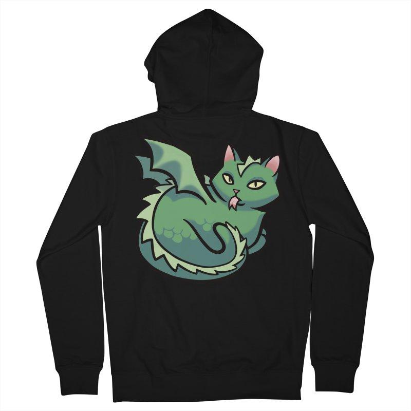 Dragon Cat Men's Zip-Up Hoody by mirana's Artist Shop