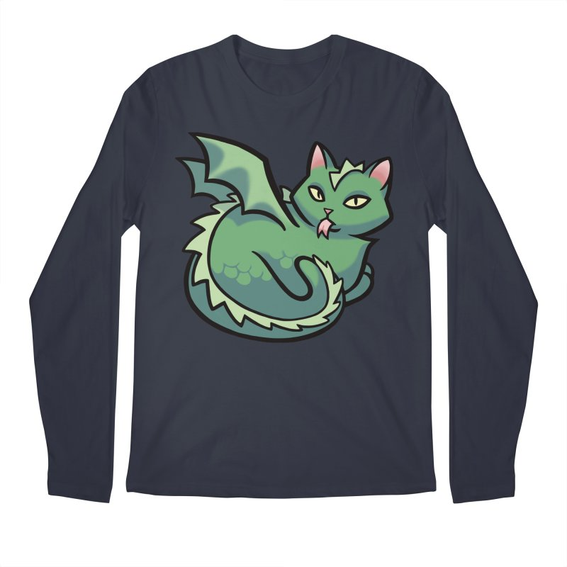 Dragon Cat Men's Longsleeve T-Shirt by The Art of Mirana Reveier