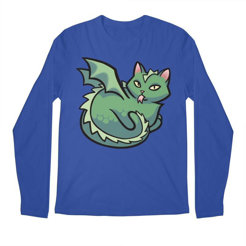 Dragon Cat Men's Longsleeve T-Shirt by mirana's Artist Shop