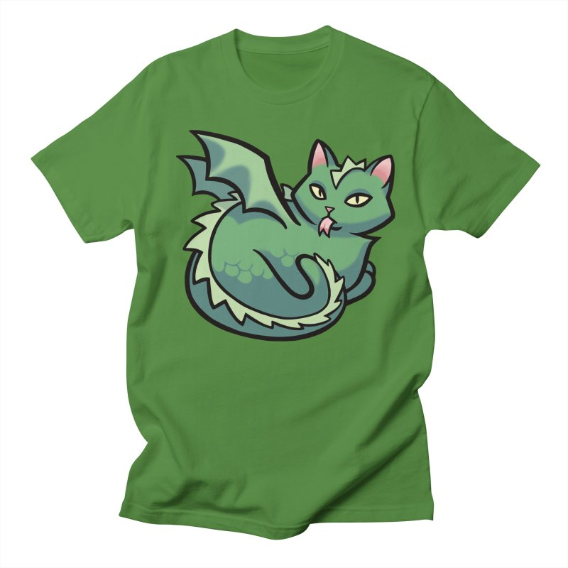 Dragon Cat Men's Regular T-Shirt by mirana's Artist Shop