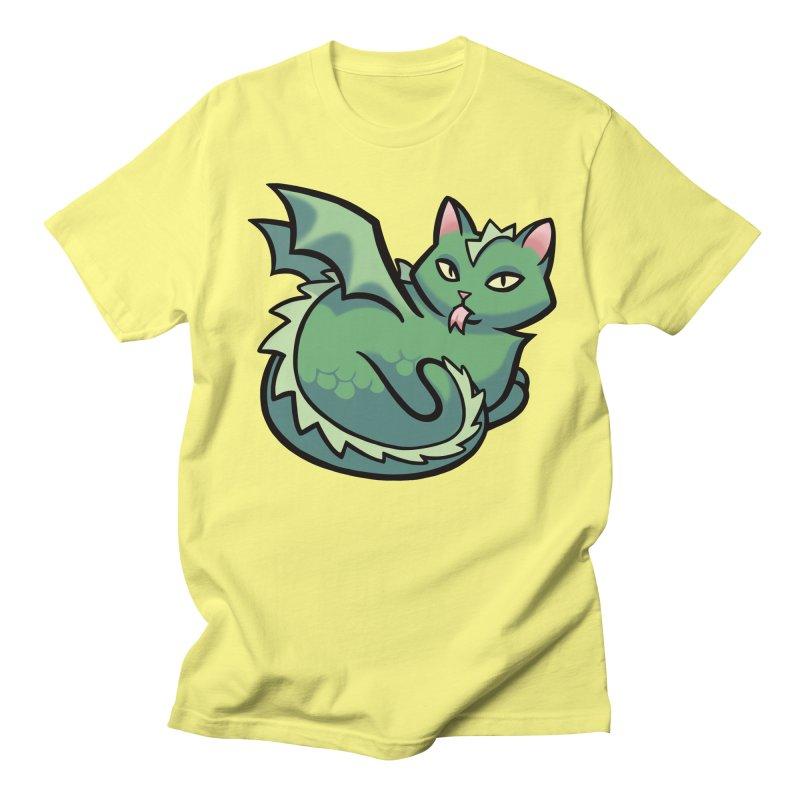 Dragon Cat Men's T-shirt by mirana's Artist Shop