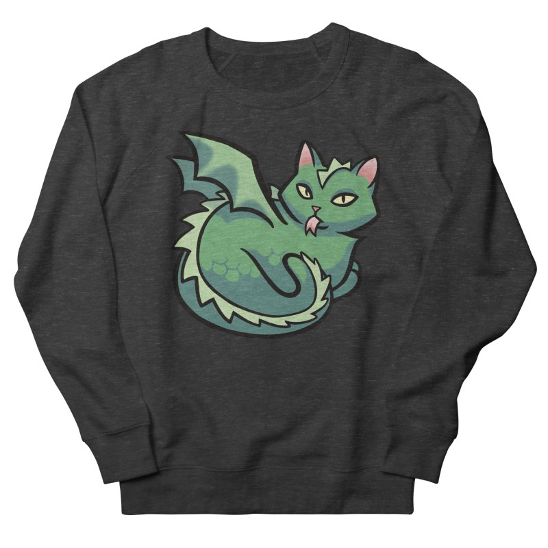 Dragon Cat Women's French Terry Sweatshirt by mirana's Artist Shop