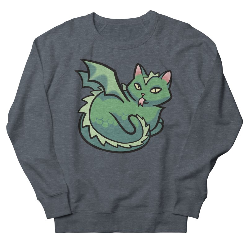 Dragon Cat Men's French Terry Sweatshirt by mirana's Artist Shop