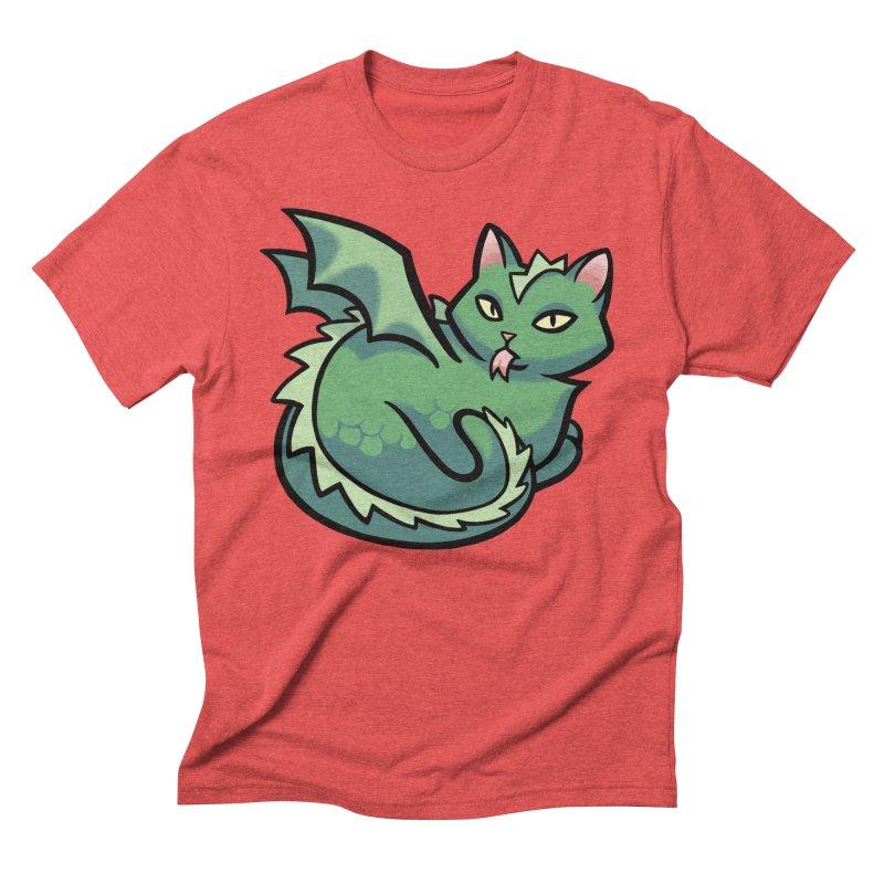 Dragon Cat Men's Triblend T-Shirt by mirana's Artist Shop