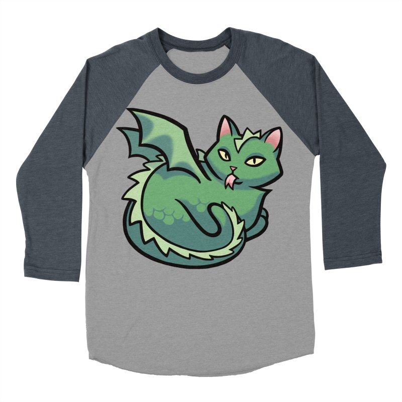 Dragon Cat Women's Baseball Triblend T-Shirt by mirana's Artist Shop