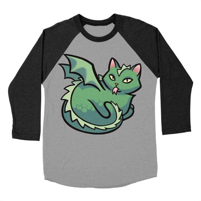 Dragon Cat Men's Baseball Triblend Longsleeve T-Shirt by mirana's Artist Shop