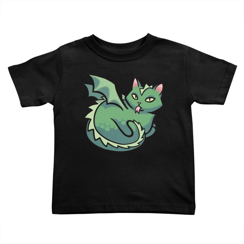Dragon Cat Kids Toddler T-Shirt by mirana's Artist Shop