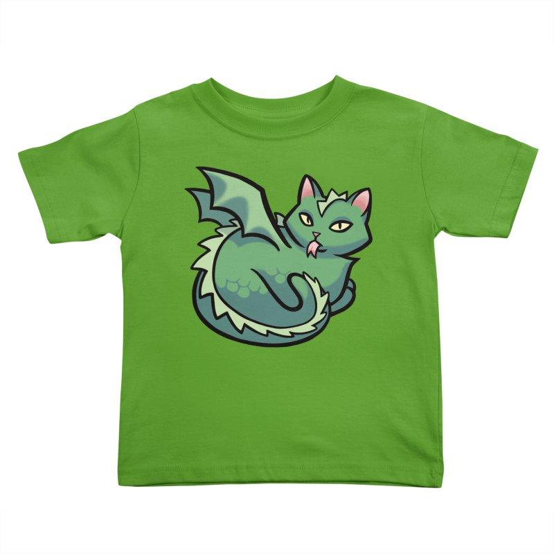 Dragon Cat Kids Toddler T-Shirt by The Art of Mirana Reveier