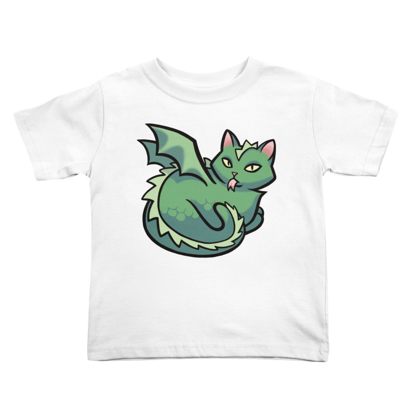 Dragon Cat Kids Toddler T-Shirt by mirana's Artist Shop