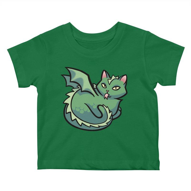 Dragon Cat Kids Baby T-Shirt by The Art of Mirana Reveier