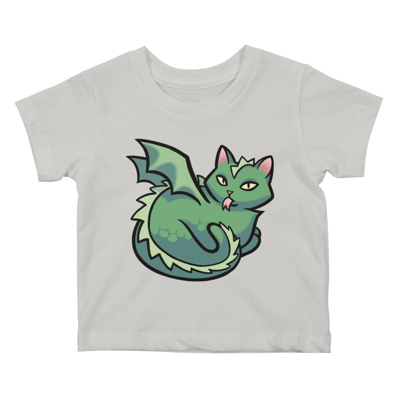 Dragon Cat Kids Baby T-Shirt by mirana's Artist Shop