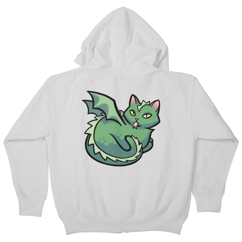 Dragon Cat Kids Zip-Up Hoody by mirana's Artist Shop